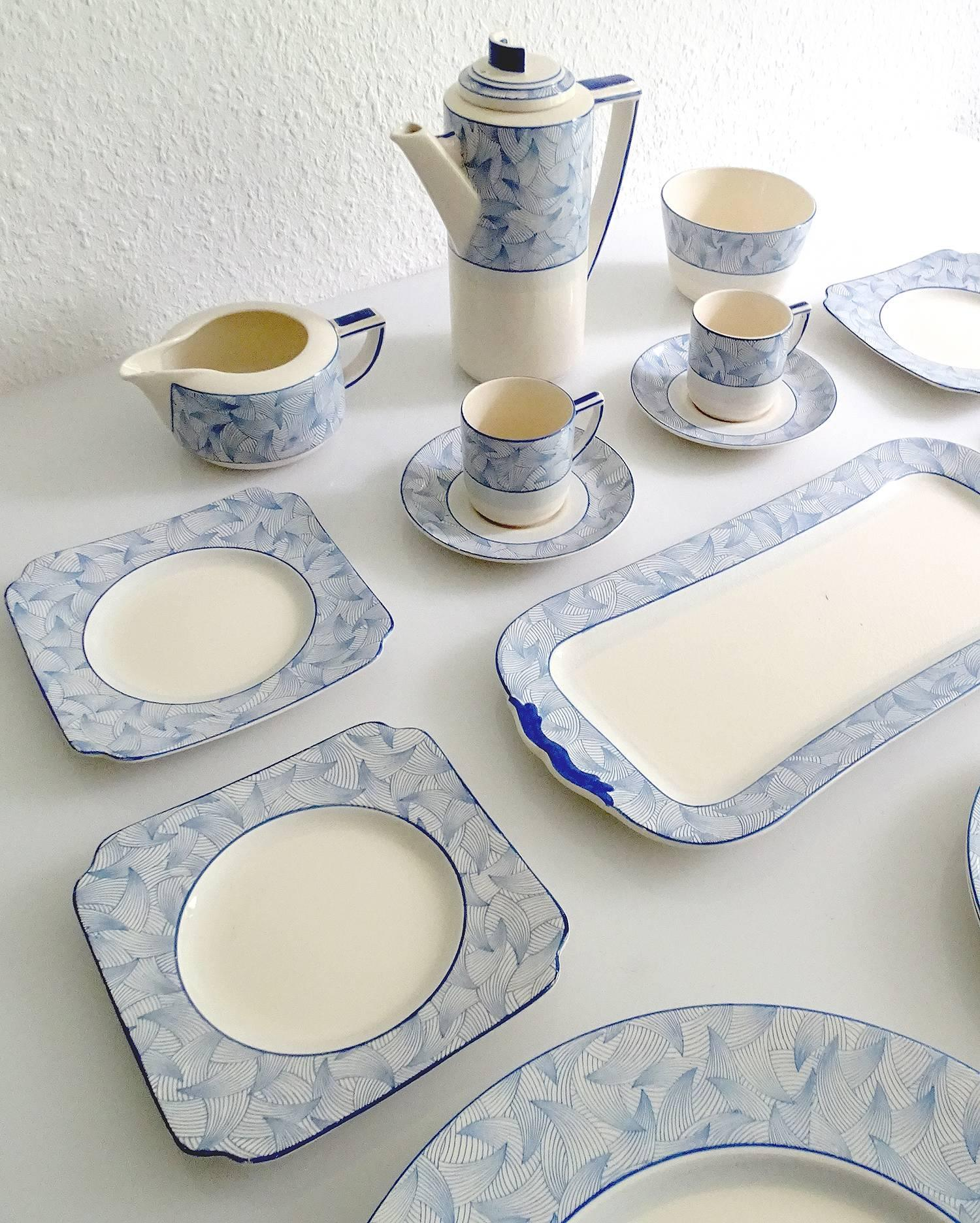 British 18 PCs Royal Doulton Art Deco Service Dinner Dinnerware Modernist Limoges Era For Sale & 18 PCs Royal Doulton Art Deco Service Dinner Dinnerware Modernist ...