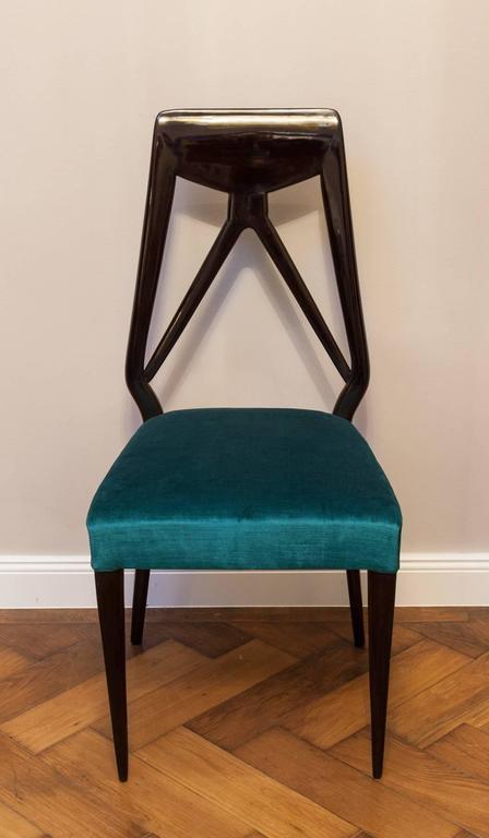 Italian Set of six Vittorio Dassi Chairs, Italy circa 1950 For Sale