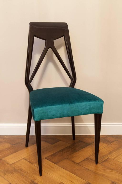 Set of Six Vittorio Dassi Chairs, Italy, circa 1950 For Sale 2