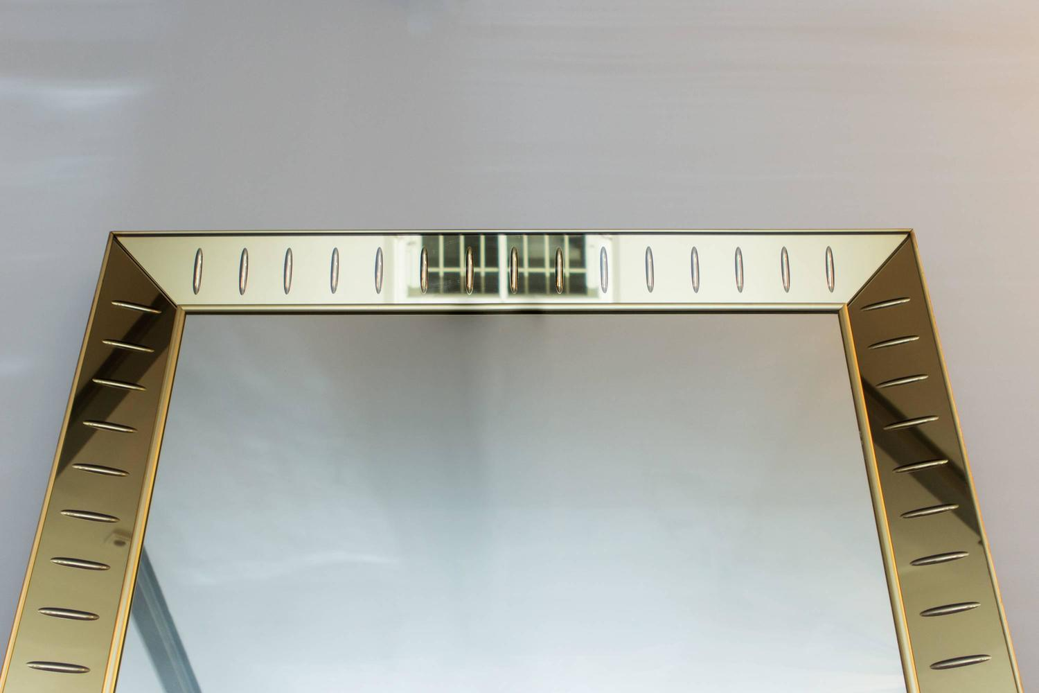 Big floor mirror by cristal art italy circa 1955 for sale for Big full length mirror