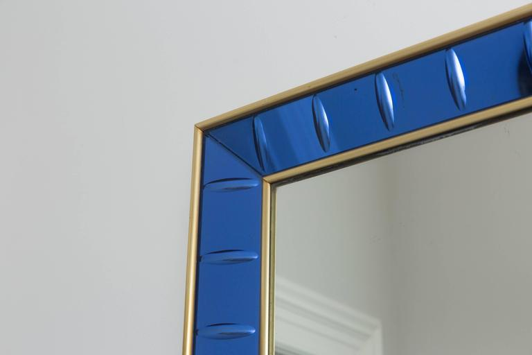 Mid-Century Modern Wall Mirror by Cristal Art, Italy, circa 1960 For Sale