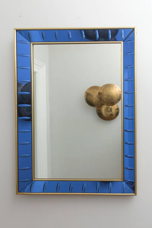Wall Mirror by Cristal Art, Italy, circa 1960 For Sale 1
