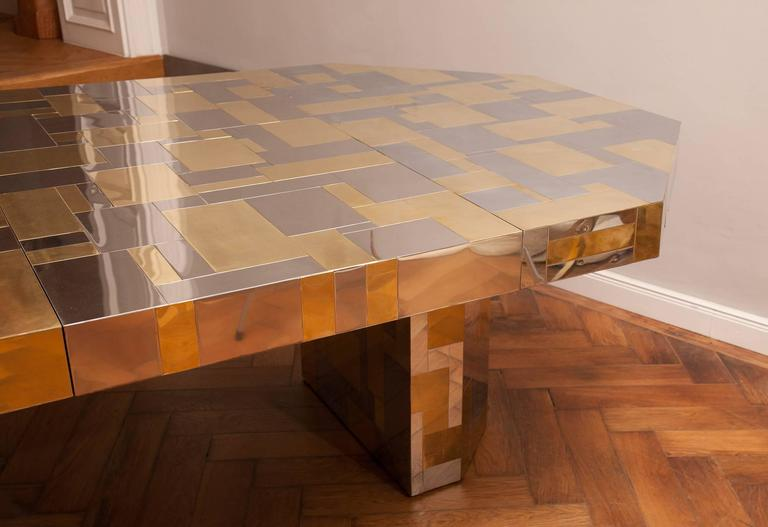 Mid-Century Modern Rare Paul Evans, Dining Table, Cityscape Edition, USA, circa 1970 For Sale