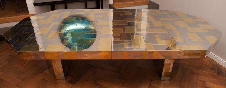 American Rare Paul Evans, Dining Table, Cityscape Edition, USA, circa 1970 For Sale