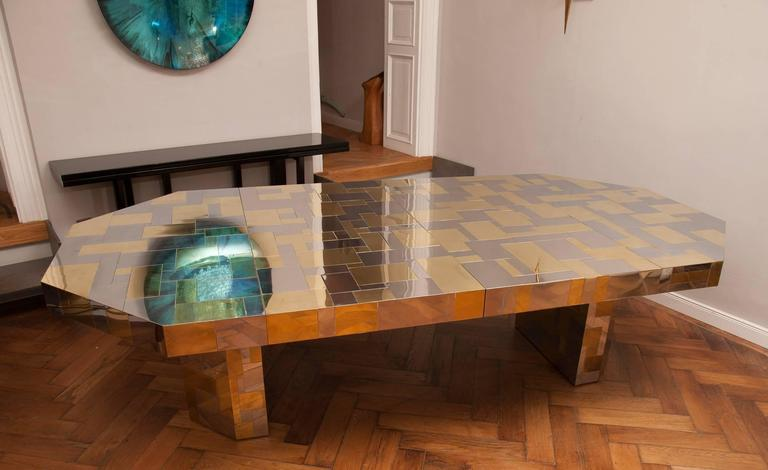 Rare Paul Evans, Dining Table, Cityscape Edition, USA, circa 1970 For Sale 1