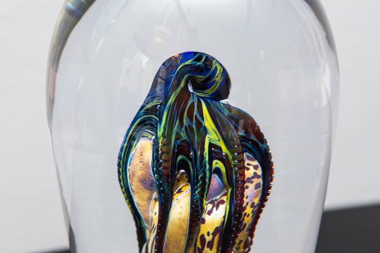 "Amazing Murano glass sculpture ""Octopus"", Italy, circa 1970, handblown Studio glass, unknown artist, very heavy glass object circa 8 KG. Perfect condition."