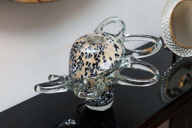 Vase by Mihai Topescu, Romania, circa 1990, Studio Glass 2