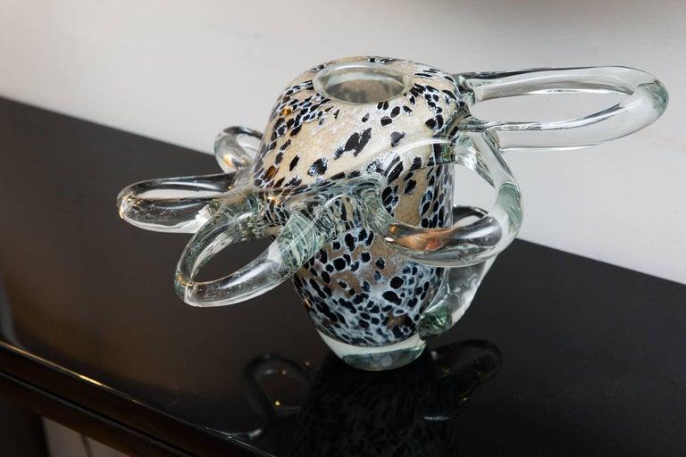 Vase by Mihai Topescu, Romania, circa 1990, Studio Glass 3