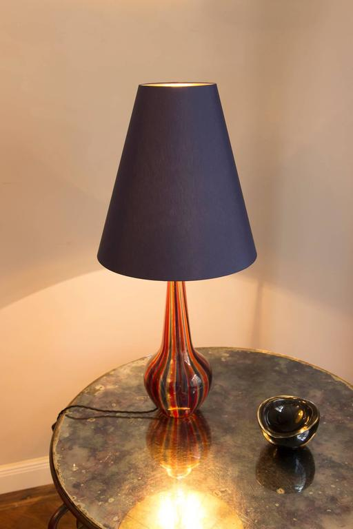 Mid-Century Modern Table Lamp by Barovier & Toso, Italy, circa 1950 For Sale