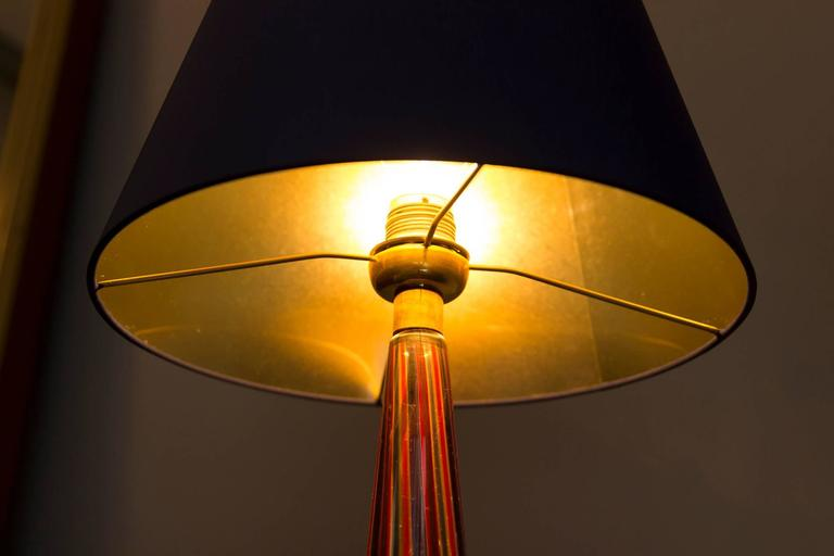 Mid-20th Century Table Lamp by Barovier & Toso, Italy, circa 1950 For Sale