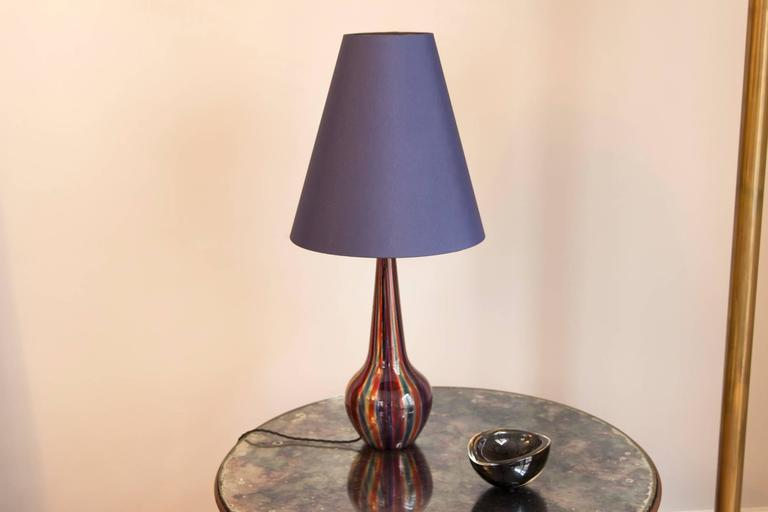 Brass Table Lamp by Barovier & Toso, Italy, circa 1950 For Sale