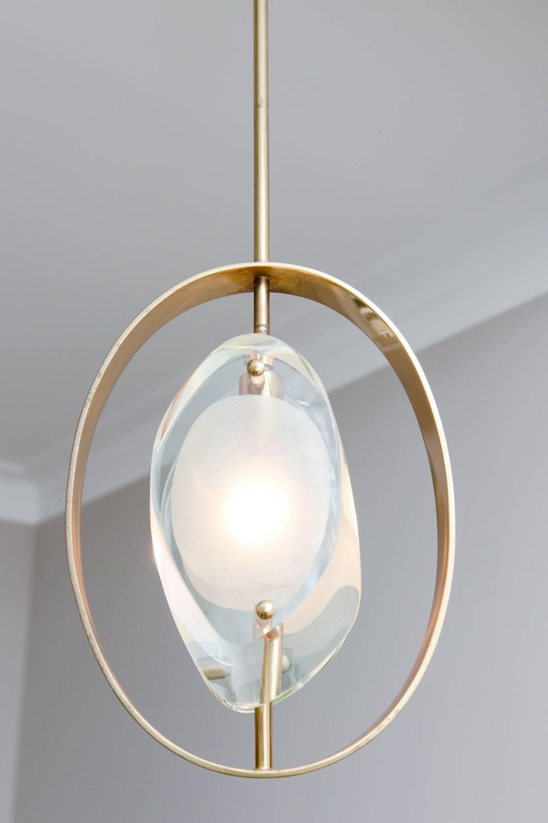 Pendant Ceiling Lamp by Max Ingrand, Model 1933, Prod. Fontana Arte 1961 5