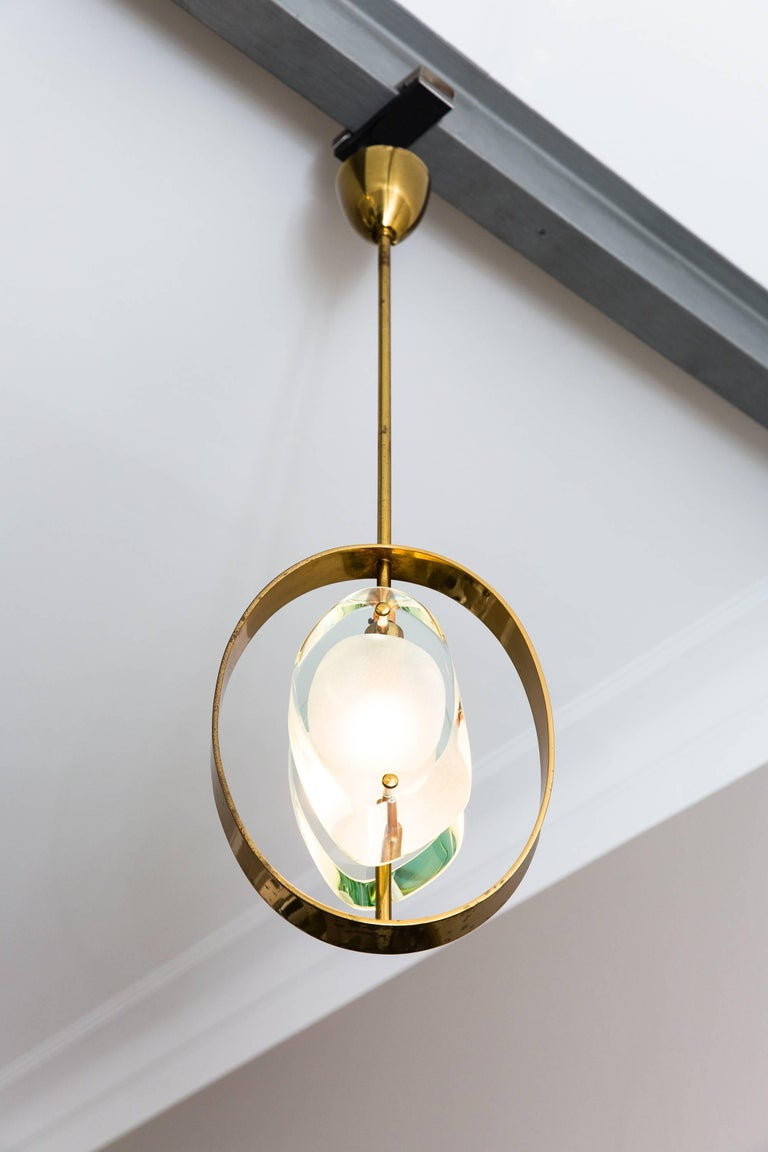 Pendant Ceiling Lamp by Max Ingrand, Model 1933, Prod. Fontana Arte 1961 7