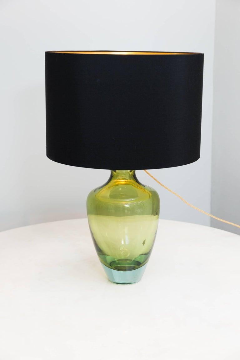 Table Lamp by Seguso Vetri D´Arte, Murano Italy, circa 1950 In Excellent Condition For Sale In Munich, DE