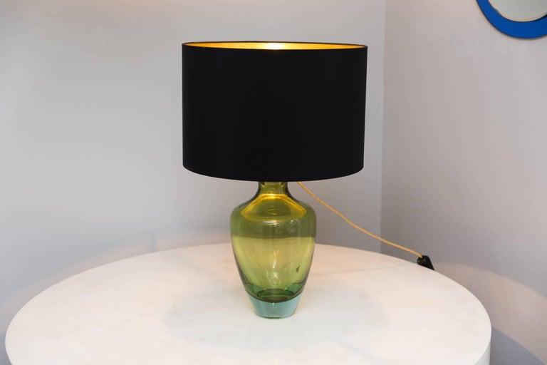 Table Lamp by Seguso Vetri D´Arte, Murano Italy, circa 1950 For Sale 1