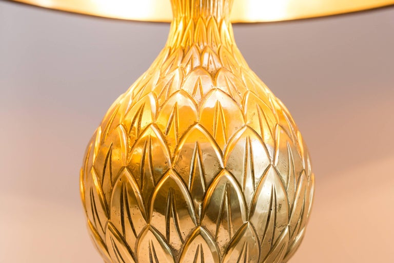 Pair of Pineapple Table Lamps by Maison Charles, France, circa 1970 For Sale 1