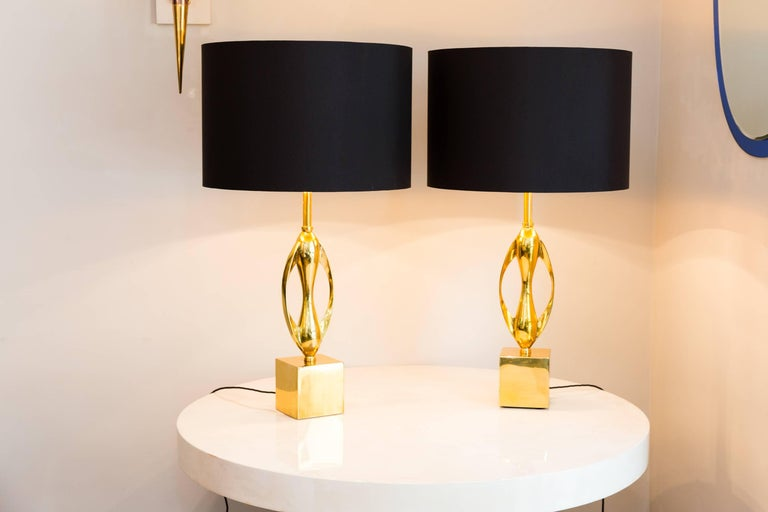 Pair of Table Lamps by Maison Charles, France, circa 1970 4
