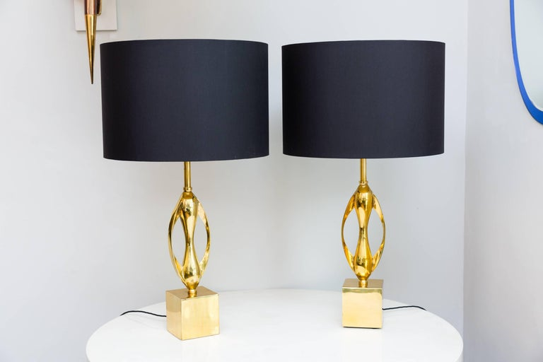 Pair of Table Lamps by Maison Charles, France, circa 1970 10