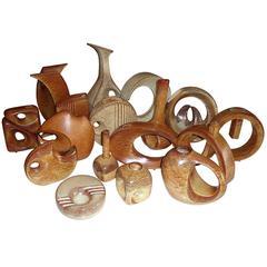 Collection of Ceramic Bertoncello Sculptural Vases