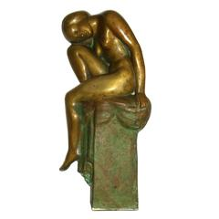 Impressive French Art Deco Bronze Sculpture in the Manner of Chana Orloff