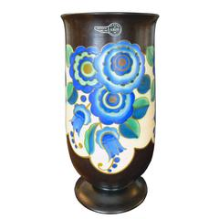 Art Deco Ceramic Vase by Keramis, Belgium
