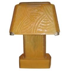 Daum Nancy S Glass Table Lamp France 1930 At 1stdibs