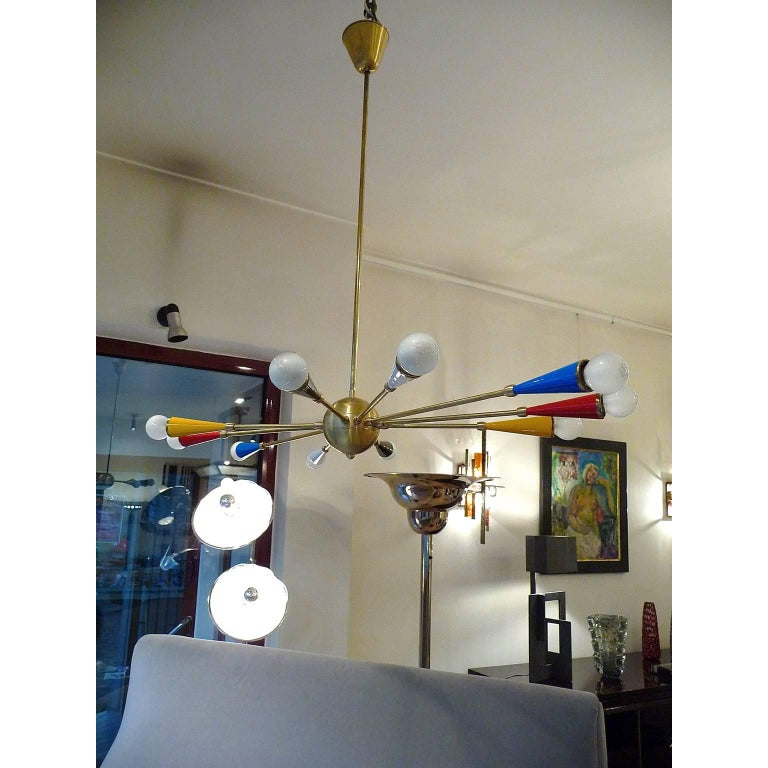 Contemporary Italian Ceiling Lamp in the style of Arredoluce For Sale