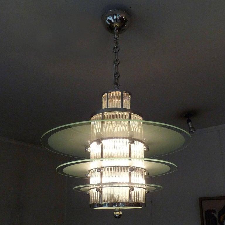 art deco ceiling light by atelier petitot for sale at 1stdibs. Black Bedroom Furniture Sets. Home Design Ideas
