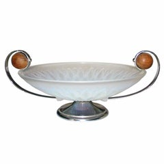 French Art Deco Centerpiece Bowl Etling, France, circa 1930