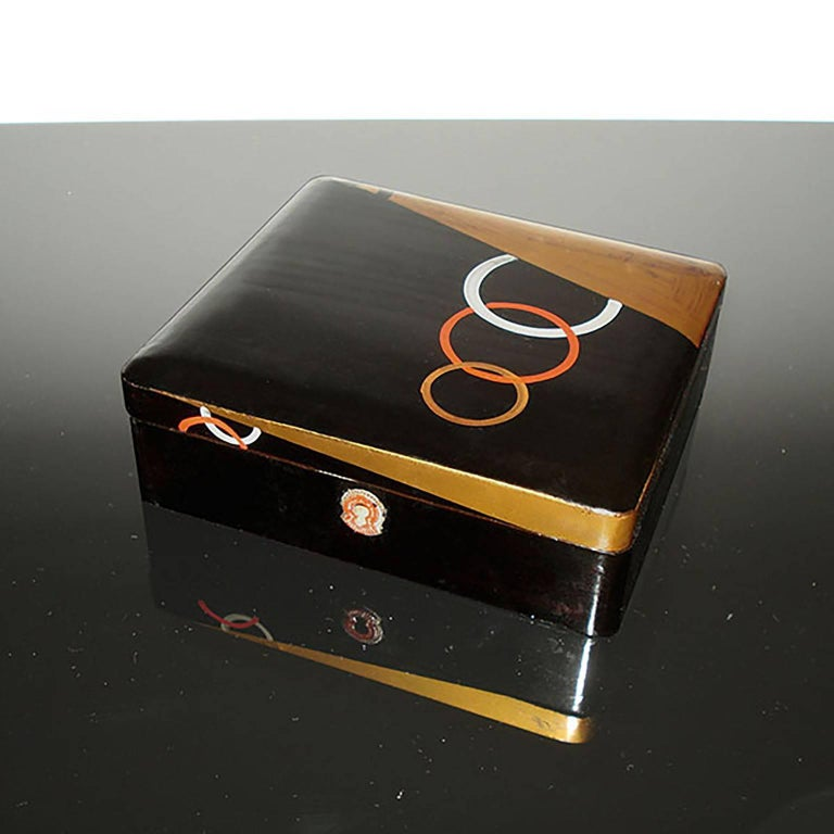 Mid-20th Century Art Deco Lacquered Box, France, circa 1930 For Sale