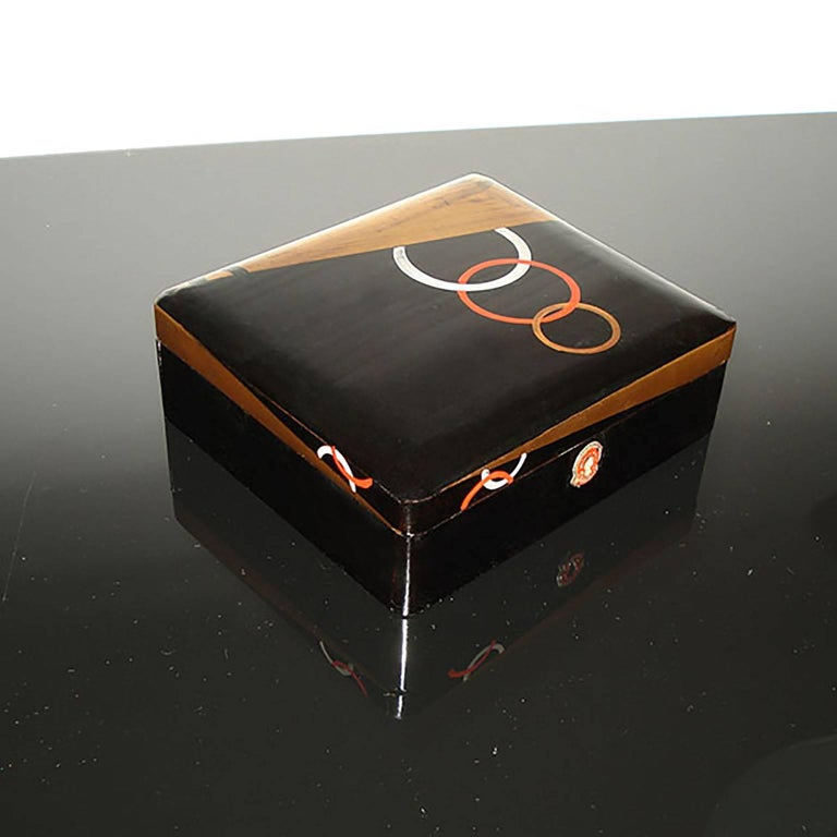 Art Deco Lacquered Box, France, circa 1930 In Good Condition For Sale In Bochum, NRW