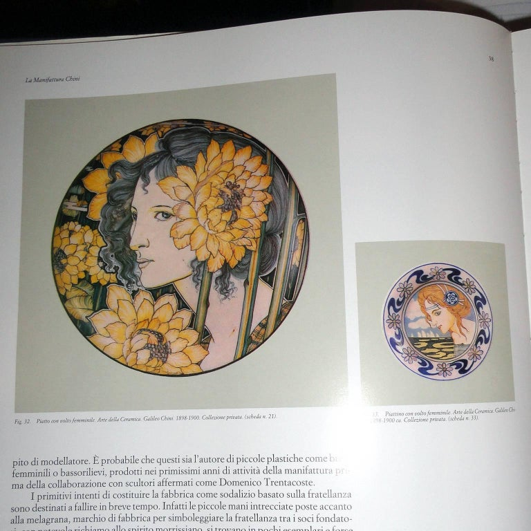 Painted Very Decorative Glass Plate by Franz Pelzel for S.A.L.I.R For Sale