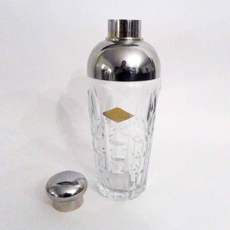 Art Deco Crystal Cocktail Shaker In Excellent Condition For Sale In Bochum, NRW