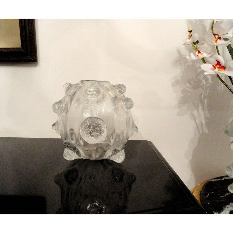 Murano Glass Ercole Barovier Large Massive Vase a Mugnoni For Sale