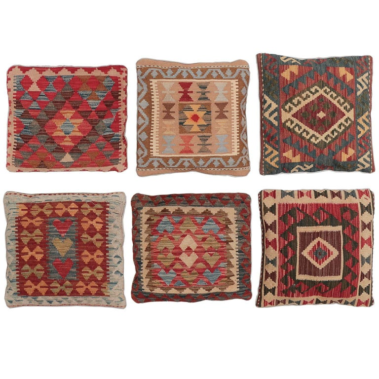 Decorative Pillows, Vintage Kilim Pilows For Sale at 1stdibs