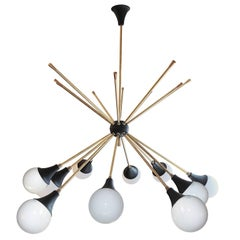 Impressive Italian Ceiling Lamp in the Style of G.C.M.E