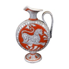 Beautiful Mid-Century Modern Ceramic Pitcher