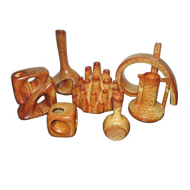 Midcentury Bertoncello Italian Ceramic Vases For Sale