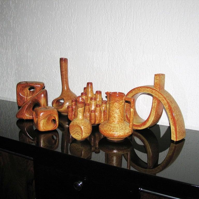 Midcentury Bertoncello Italian Ceramic Vases In Excellent Condition For Sale In Bochum, NRW