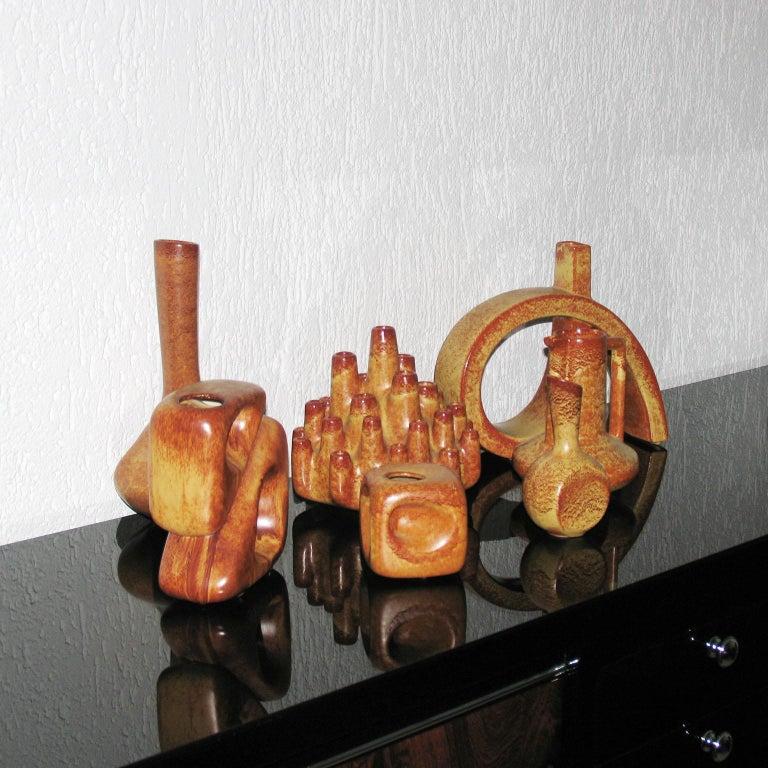 Mid-20th Century Midcentury Bertoncello Italian Ceramic Vases For Sale