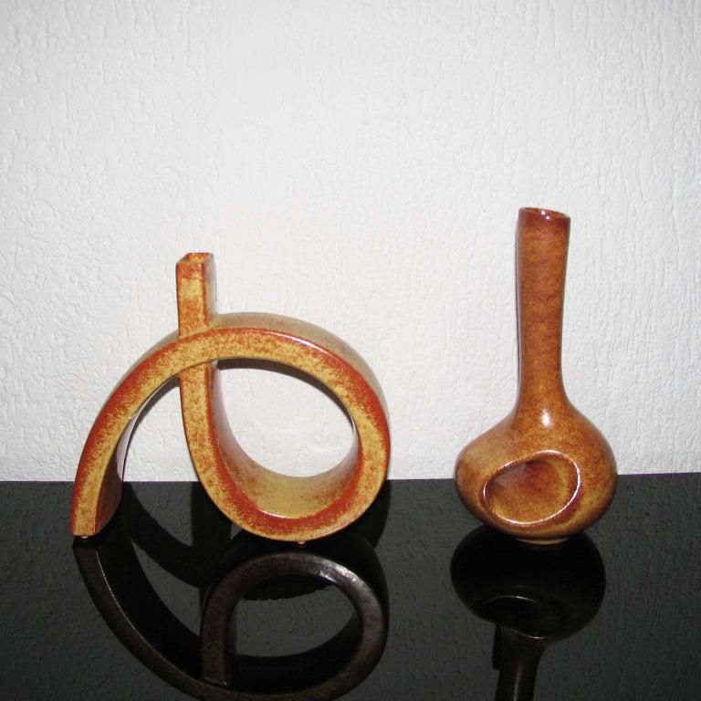 Midcentury Bertoncello Italian Ceramic Vases For Sale 3