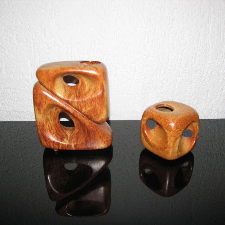 Midcentury Bertoncello Italian Ceramic Vases For Sale 4