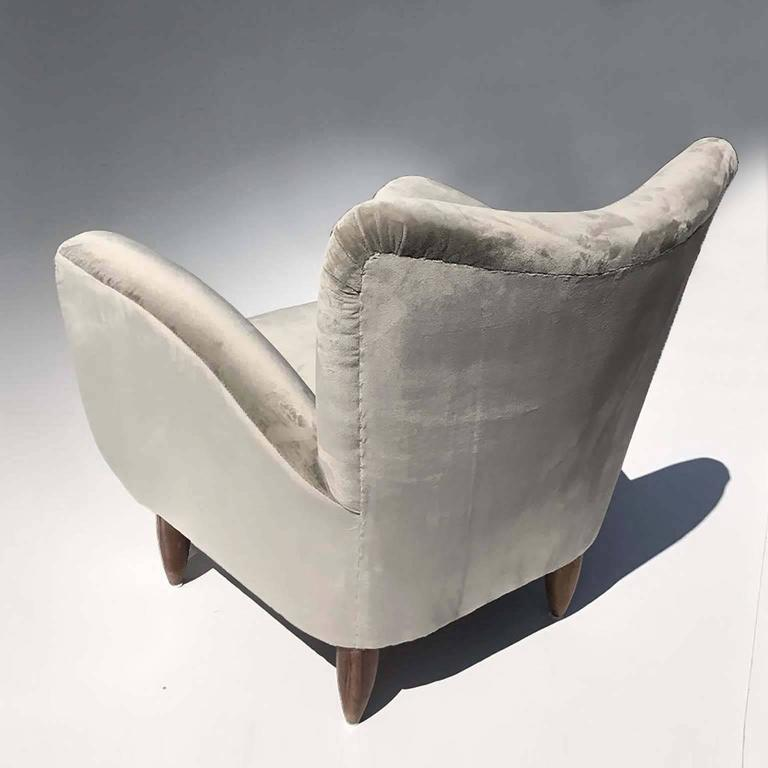 Guglielmo Veronesi Italian Armchairs in Luxurious Velvet For Sale 3