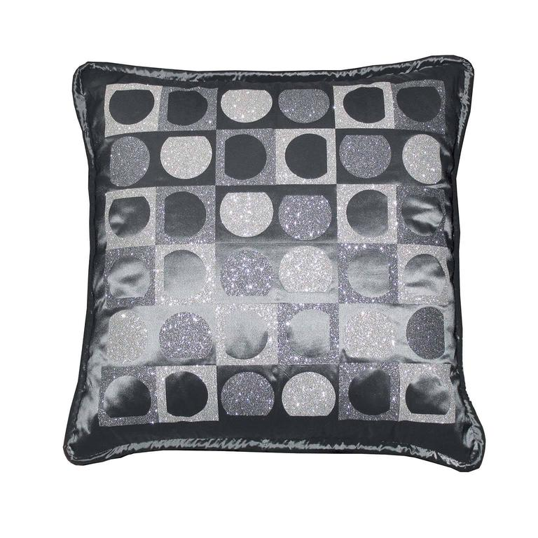 "Modern Pair of Decorative Glitter Pillows, Philosophy Pillows ""Vasarely"" For Sale"