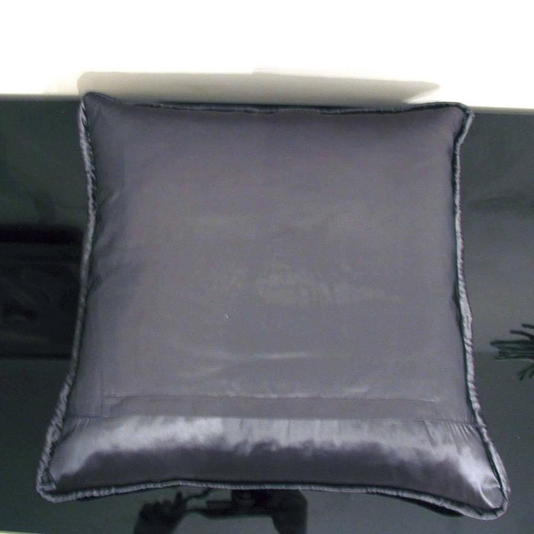 "German Pair of Decorative Glitter Pillows, Philosophy Pillows ""Vasarely"" For Sale"