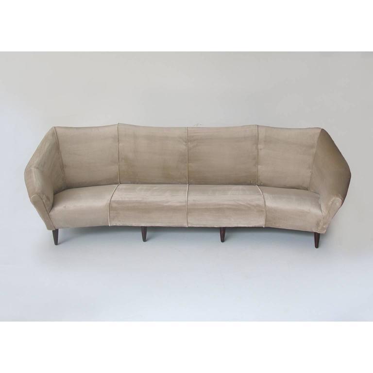Enzo Minotti Four Seats Italian Sofa in Luxurious Velvet For Sale at ...