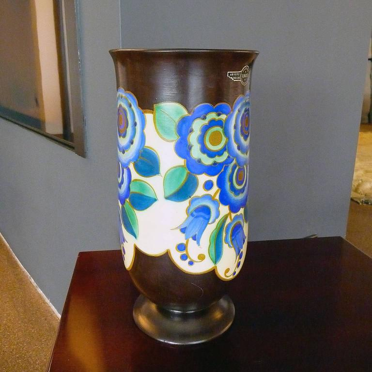 Belgian Art Deco Ceramic Vase by Keramis, Belgium