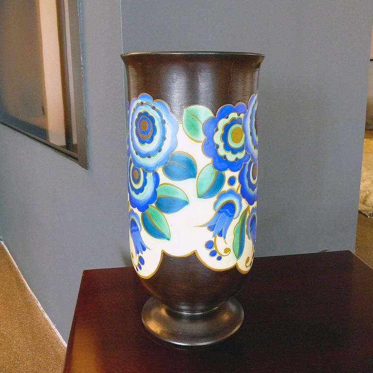 Art Deco Ceramic Vase by Keramis, Belgium In Excellent Condition In Bochum, NRW