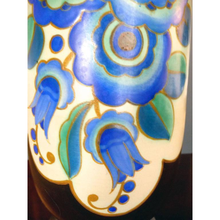 Mid-20th Century Art Deco Ceramic Vase by Keramis, Belgium