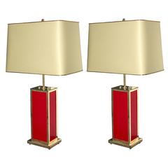 Elegant Pair of Table Lamps in the Style of J.C.Mahey